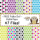 Polka Dot Digital Paper Set: Graphics for Teachers