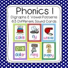 Polka Dot First Grade Phonics Sounds Poster Set