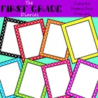 Polka Dot {Frames & Borders} Rainbow