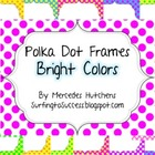 Polka Dot Frames Bright Colors