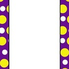 Polka Dot Frames - Purple and yellow