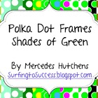 Polka Dot Frames Shades of Green
