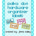 Polka Dot Hardware Organizer Labels