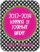 Polka Dot Keeping It Together Binder