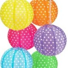 Polka Dot Lanterns (Set of 6)