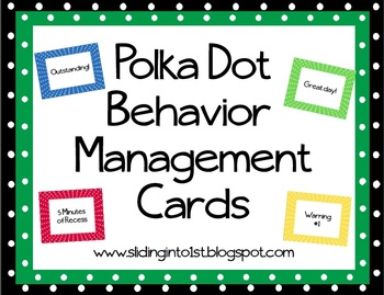 Polka Dot Management Clip Chart
