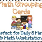 Polka Dot Math Center Grouping Cards & Planning Sheet