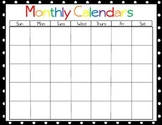 Polka Dot Monthly Calendars