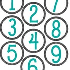 Polka Dot Number Labels