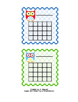 Polka Dot Owl Sticker Chart