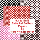 Polka Dot Patterns: Digital Papers 8.5x11 and 12x12