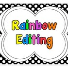 Polka Dot Pirate Rainbow Editing Posters