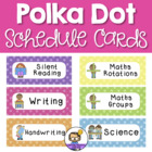 Polka Dot Schedule Cards - A visual daily timetable