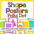 Polka Dot Shape Posters
