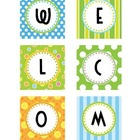 Polka Dot & Stripes - Welcome Sign