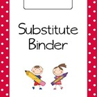 Polka Dot Substitute Binder Pages