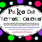 Polka Dot Thematic Calendar