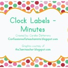 Polka-Dot Theme Clock Labels