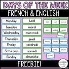 Polka Dot Theme: Days of the Week - Bilingual (French and