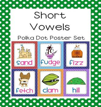 Polka Dot Word Family (Families) Phonics Poster Set