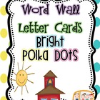 Polka Dot Word Wall Cards
