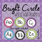 Polka Dot Word Wall Labels