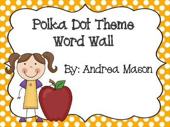 Polka Dot Word Wall Set - First 300 Fry Words