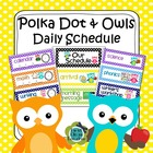 Polka Dot and Owls Class Schedule - Editable (4 options included)