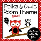 Polka Dot and Owls Themed Deluxe Classroom Decor Set {plus