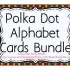 Polka Dots Alphabet Cards Bundle