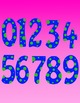 Numbers and Math Symbols Clipart - Polka Dots