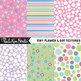Polka Dots, Flowers and Stripes Digital Paper Backgrounds