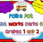 Polka Dots Sight Word Cards: Grade 1 and 2