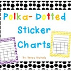 Polka Dotted Sticker Charts
