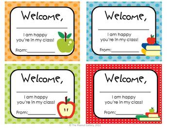 """Polka Dotty"" Welcome Tags"
