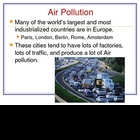 Pollution in Europe/ Environmental Issues