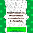 Polygon Vocabulary Flips and Quiz - Geometry