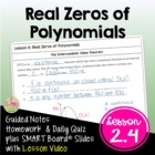 Polynomial, Power, Rational Functions Lesson 4: Real Zeros