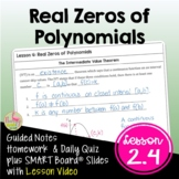 Lesson 4: Real Zeros of Polynomials