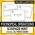 Polynomials Scavenger Hunt Activity!