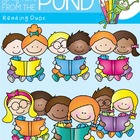 Reading Duos - School Kids Clipart Graphics From the Pond