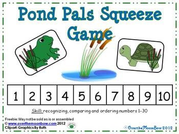 Pond Pals Squeeze Number Game