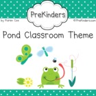 Pond Theme Classroom Printables