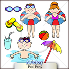 Pool Clipart set