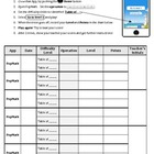 PopMath Challenge (use with iPad or iPod Touch App)
