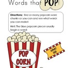 Popcorn Literacy Center Activity