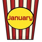 Popcorn Movie Hollywood Theme Months