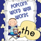 Popcorn Word Wall Words &amp; Alphabet with Dolch Sight Words
