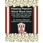 Popcorn Word Work Unit Freebie