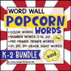 Popcorn Words BUNDLE {Editable!}